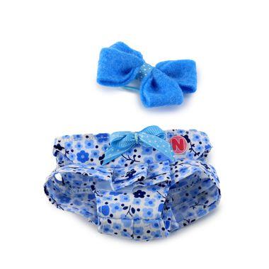 Vestido-Floreado-con-Moño-Azul-Sigoto