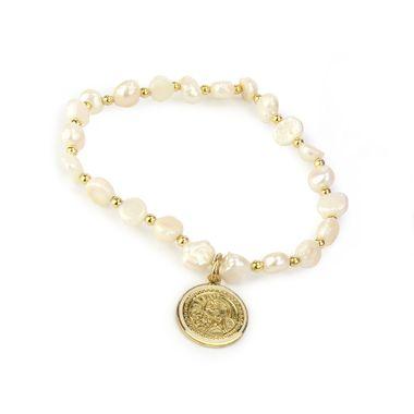 Pulsera-perlas-medalla-virgen-esmaltada-blanca-