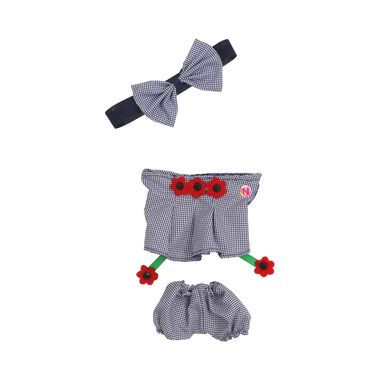 Vestido-cuadros-con-flores-rojas