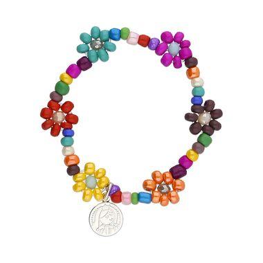 pulsera-flores-medalla-virgen-redonda