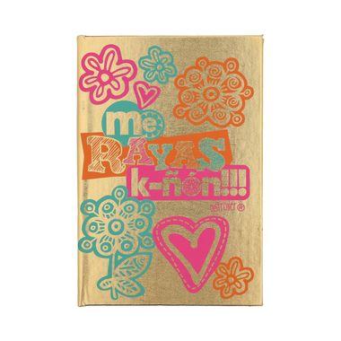 cuaderno-dorado-flores
