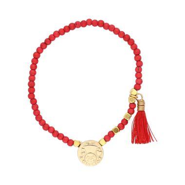 pulsera-bolitas-rojas-y-doradas--San-Antonio-