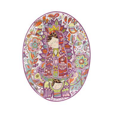 Placa-Oval-Virgen-Contorno-Lila