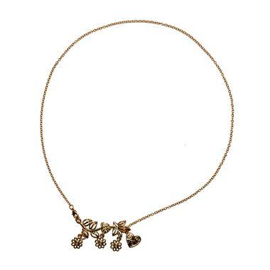Collar-Flores-con-Corazon-Dorado