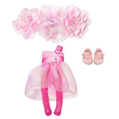 Vestido rosa con diadema de flores para chikihadas