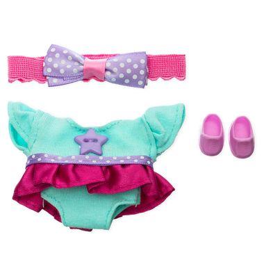 Vestido color menta con rosa y diadema Ksi-merito