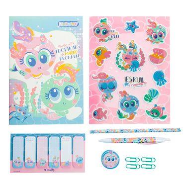 Set-de-papeleria-diseño-Neonato-Sirena